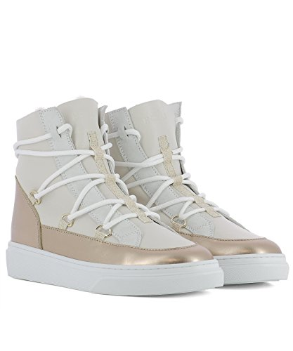 Hxw3420z960hq80l8v Beige Hogan Pelle Top Donna Sneakers Hi qIS7OI