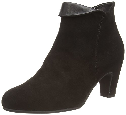 Gabor Womens Gabor 35.670 Black Samtchevreau / Foulard Boot Uk 7.5 (us Womens 10) B - Medium