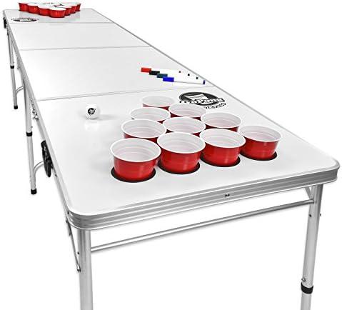 Noir, Football ou Drapeau am/éricain Gopong 2,4/m Portable Beer Pong//Tailgate Tables