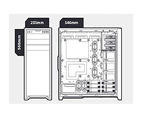 Seitenfenster Full-Tower ATX schwarz Corsair Obsidian Series 750D PC-Geh/äuse
