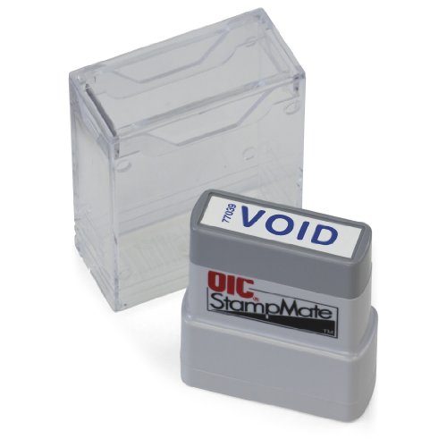 "OfficemateOIC Office Pre-Inked Message Stamp, ""Void"", Blue, Refillable (77039)"