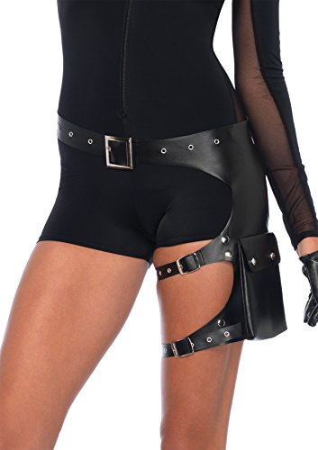 Leg Avenue Women's Costume, Black, One Size]()