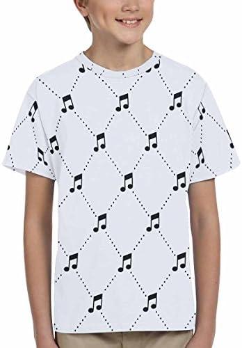 INTERESTPRINT Music Note Youth Crew Neck T-Shirt XS-XL