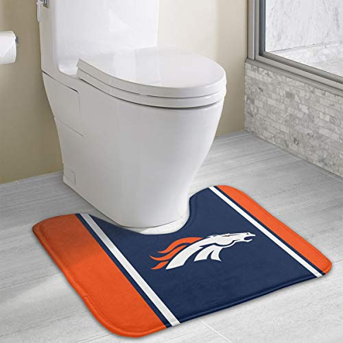 - Marrytiny Custom Colourful Non Slip U-Shaped Toilet Bath Rug Denver Broncos Football Team Anti-Bacterial Floor Contour Doormat Shower Mat Bathroom Carpet 19.3 x 15.7 Inches