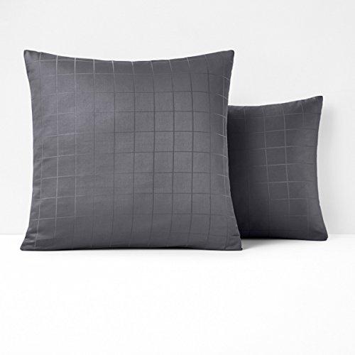 Coverlet Squares Satin (La Redoute Interieurs Cotton Satin Pillowcase Grey Size Square (63 X 63Cm))