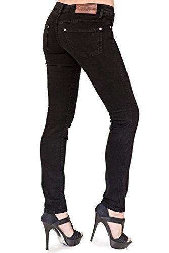 Bullet Blues Chic Parisien Skinny Cigarette Black Size 33 Regular Women's Jeans Made In USA