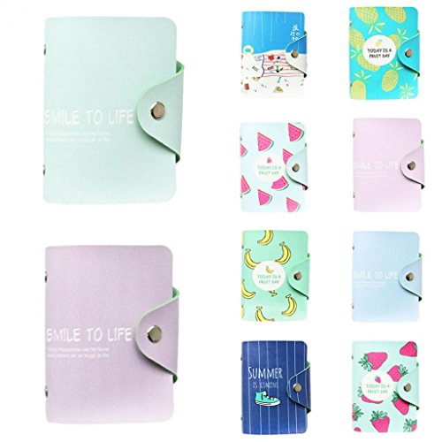 Portable Faux Wallet Card Holder Hearsbeauty ID Storage Slots Leather 3 Pocket 8 Credit Purse dtqHwTW0