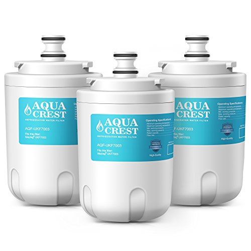 Price comparison product image AQUACREST UKF7003 Refrigerator Water Filter,  Compatible with Maytag UKF7003,  UKF7002AXX,  WF288,  Whirlpool EDR7D1,  EveryDrop Filter 7 (Pack of 3)