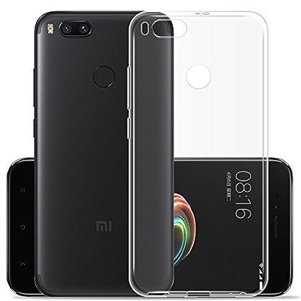 JIENI Funda para Xiaomi Mi 5X / Xiaomi Mi A1 Transparente TPU Silicona Parachoques Tapa Caso Carcasa Case Espalda Cover para Xiaomi Mi 5X / Xiaomi Mi ...