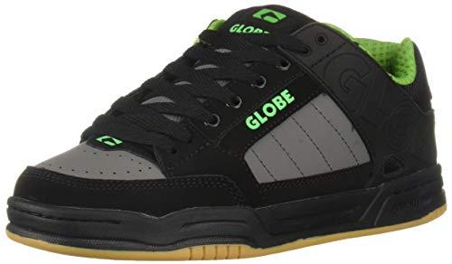 Globe Men's Tilt Skate Shoe, Black/Charcoal/Greenery, 11 Medium - Shoes Mens Skate Clearance