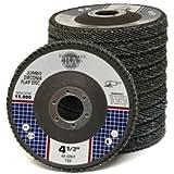 """40 Pack 4.5"""" x 7//8/"""" Zirc Flap Disc Grinding Wheels 40 60 80 120 Grit T29 Bundle"""