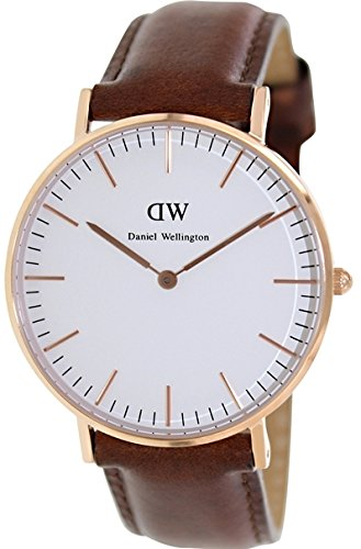 daniel wellington damen armbanduhr classic st andrews lady leder 0507dw g nstiger preis. Black Bedroom Furniture Sets. Home Design Ideas