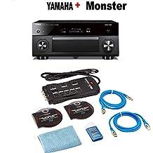 Yamaha RX-A3080 9.2-ch 4K Ultra HD AV Receiver Works Alexa. + Monster Home Theater Accessory Bundle Bundle