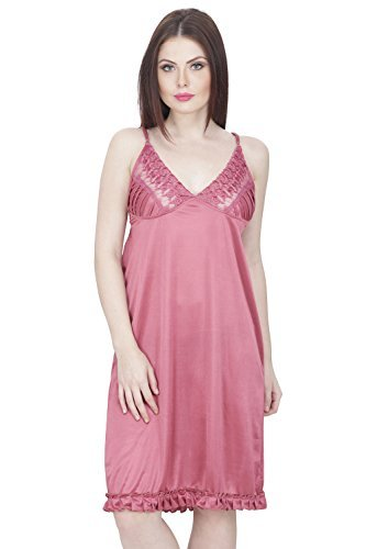 Secret Wish Women's Satin Babydoll Lingerie Nightwear | Night Dress (Free Size) Women's Babydolls at amazon
