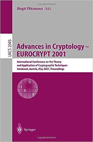 Advances in Cryptology _ EUROCRYPT 2001: International