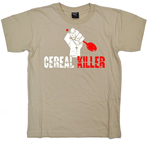 (Stooble Boys's Cereal Killer Tan T-Shirt, Size 12years)
