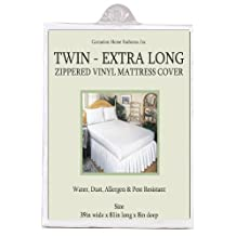 Carnation Home Fashions Twin Extra-Long Zippered Vinyl Mattress Cover