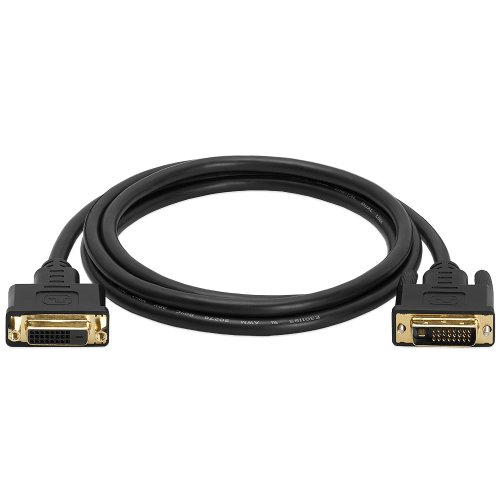 Cmple - DVI D Dual Link Extension M/F Cable - 6 Feet (Gold Plated)