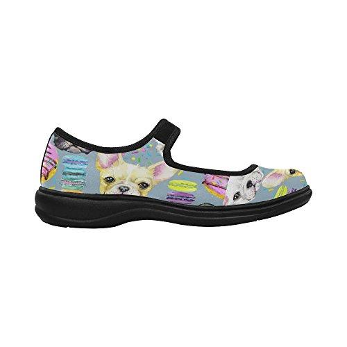 ... Interestprint Mujeres Comfort Mary Jane Flats Zapatos Casual Para  Caminar Multi 6 ...