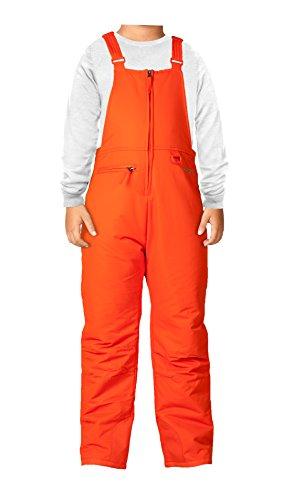 Arctix Insulated Youth Snow Bib Overalls, Sunset Orange, Large