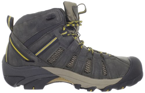 KEEN Mens Voyageur Mid Hiking Boot,Raven/Tawny Olive,9 M US