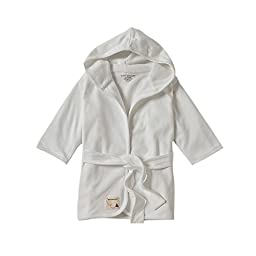 Burt\'s Bees Baby - Infant Hooded Robe, 100% Organic Cotton (Cloud)
