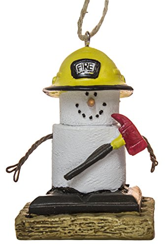 S'Mores Fireman Christmas/ Everyday Ornament