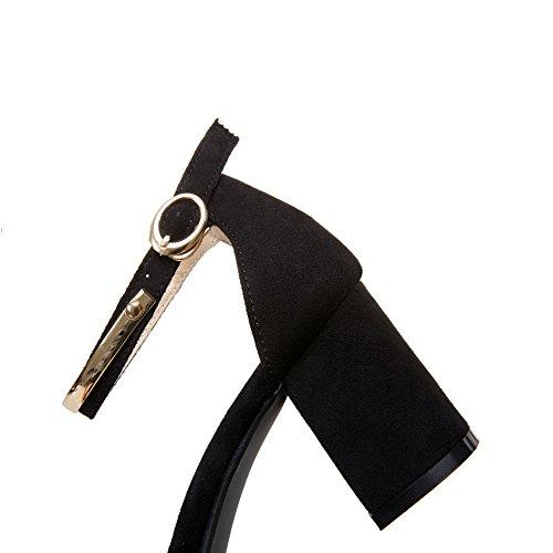 Noir Ouvert AdeeSu 5 Femme Bout 36 Noir w1n8Bq