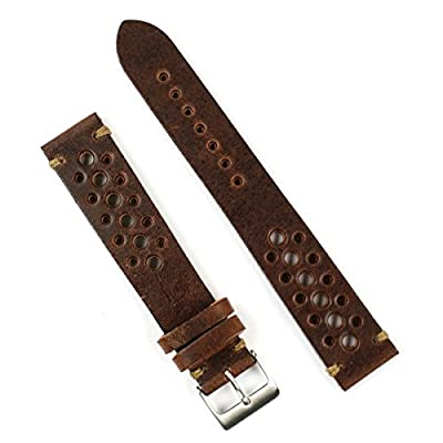 B & R Bands 20mm Chestnut Classic Vintage Racing Watch Band Strap - Small Length from B & R Bands