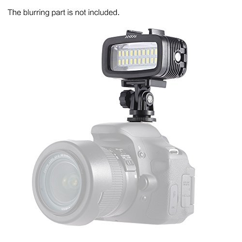 Andoer 700LM Diving Video Fill-in Light LED Lighting Lamp Waterproof 40M 1900mAh Built-in Rechargeable Battery with Diffuser for GoPro SJCAM Xiaomi Yi Sports Action Camera
