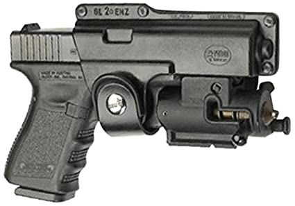 Fobus Tactical Speed Holster Paddle Left Hand GLT19LH Glock 19,23,32 / S&W  99 Compact/ M&P Compact holds Handgun with Laser or Light