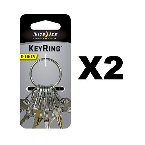 Nite Ize Key Ring 1.1'' Dia. Stainless Steel Carded by Nite Ize