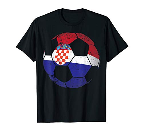 - Croatia Soccer Ball Flag Jersey Shirt - Croatian Football