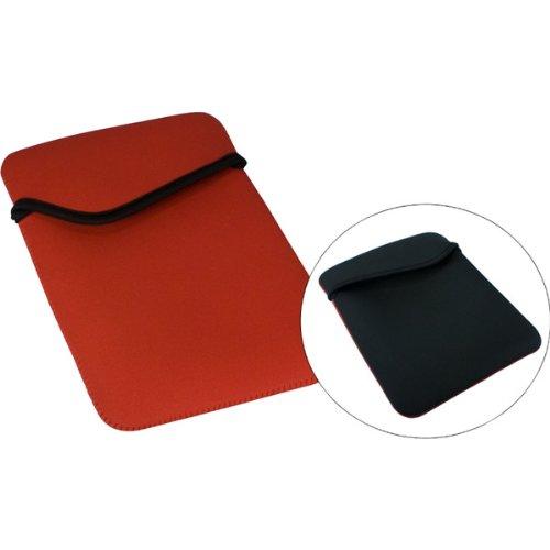 (QVS Reversible Nylon Sleeve for iPad 2/3 - Red/Black (IC-RB))