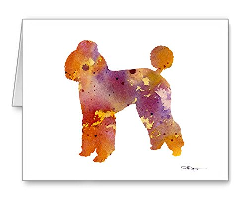 Poodle Note Card (