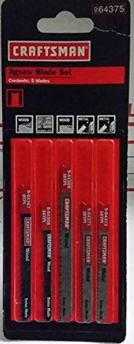 Craftsman 5 Piece Jig Saw Blades 64375