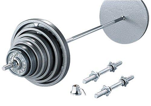 アイアンバーベルダンベルセット 145kgセット180 B001L5F5GM