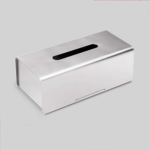 DYHOZZ Caja de pañuelos Caja de Tejido de Acero Inoxidable Caja de ...