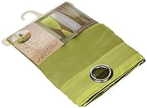 Soleil d'ocre, Cortina de seda anise con ojales, verde