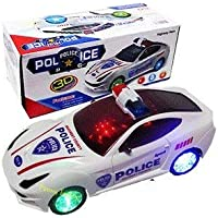 MTC Kids Bump and Go 3D Lights Police Car with Sound and Wheels with Light
