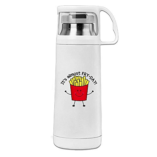 Karen Garden Fry Day With Words Stainless Steel Vacuum Insulated Water Bottle Leak Proof Handled Mug (Moss Mouse)