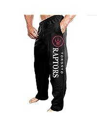Men's Toronto Raptors Logo Workout Pants Black