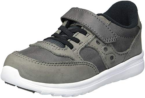 Saucony Boys' Baby Jazz LITE Sneaker, Grey, 6 Wide US Toddler