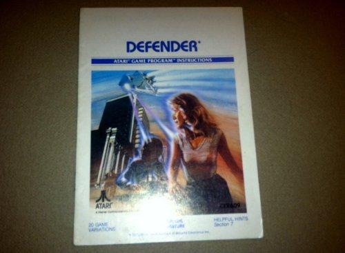 Defender Atari 2600 Game Program - Defender Instruction Booklet Only - Atari 2600 Game Manual