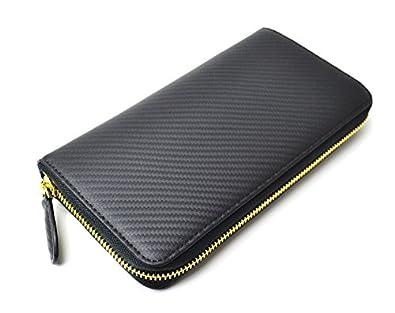 1fbe5e9761e0 Amazon | BEAMZSQUARE カーボンレザーラウンドファスナー長財布 BS-35907BK/DBR 牛革ゴールドファスナー |  BEAMZSQUARE(ビームズスクエア) | 財布