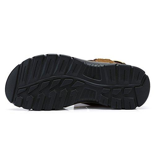 Viajar Zapatos Sneaker Hombres la Casual para Verano Libre Sandalias Playa Agujero con en de Caminar para Perfecto Brown Transpirable al Aire SHqBIWw