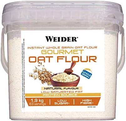 Weider Oat Gourmet. Harina de Avena Integral. Fuente de proteína con bajo contenido en azúcares. Sabor Neutro (1,9 kg): Amazon.es: Salud y cuidado personal