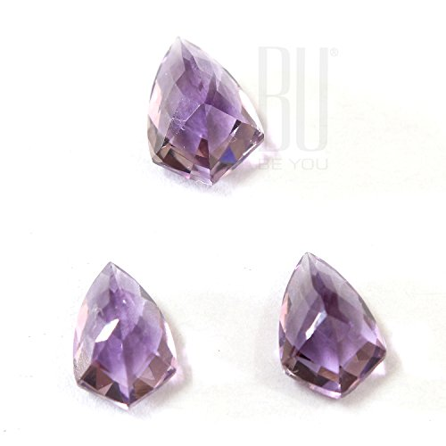 Be You Purple Colour Natural African Amethyst Fancy Carving Shape 6.25cts 3 pcs set loose gemstones