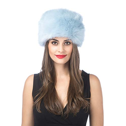 Lucky Leaf Women Men Winter Thick Fur Russian Hat Warm Soft Earmuff (H1-Light -