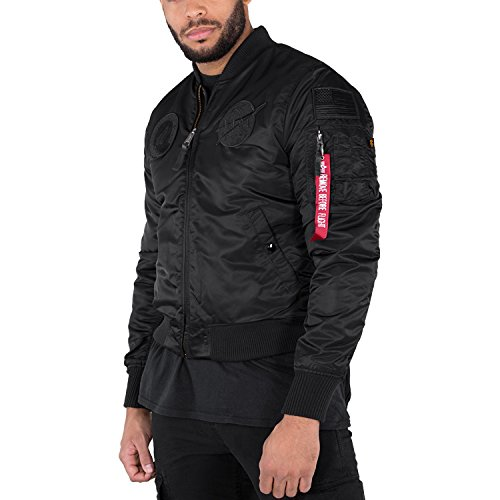 de NASA Black Hombre Industries MA Verde VF bombardero 1 chaqueta Logo All Alpha xqR0TwOHq